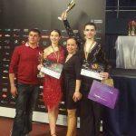 scoala de dans: Ionut, Maria, Melania, Ionut